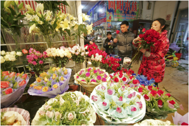 Flowers as gift to chinese hostess